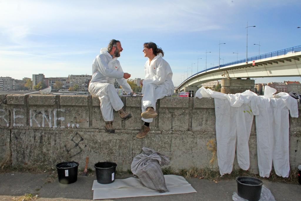 Igor i Dominik murali na Dunavu