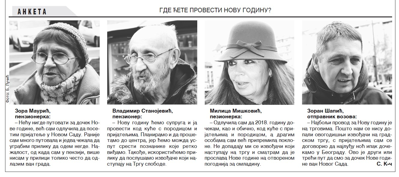 anketa nova godina, dnevnik.rs