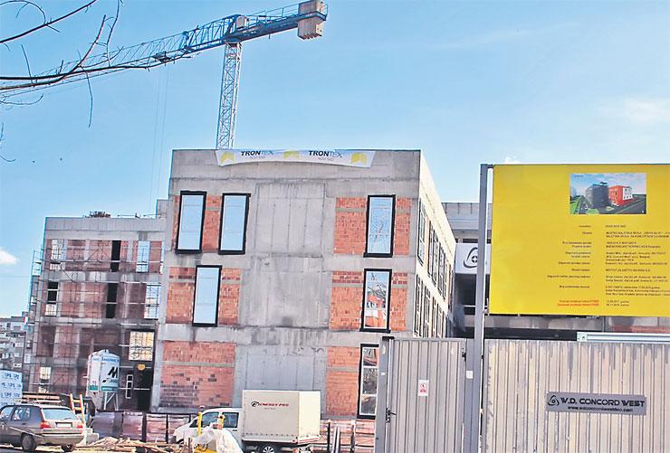 Gradnja Muzičko-baletske škole s koncertnom dvoranom na Bulevaru cara Lazara trenutno je u drugoj i najobimnijoj fazi Foto: Dnevnik.rs