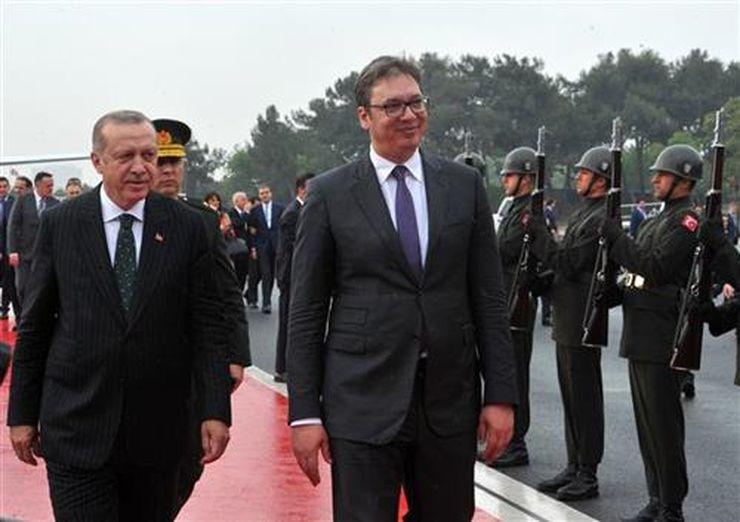 Vučić i Erdogan Foto: Tanjug