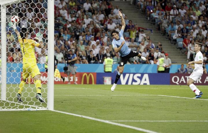 Kavani postize gol za Urugvaj/Fonet