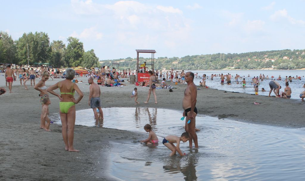 Strand krajem jula