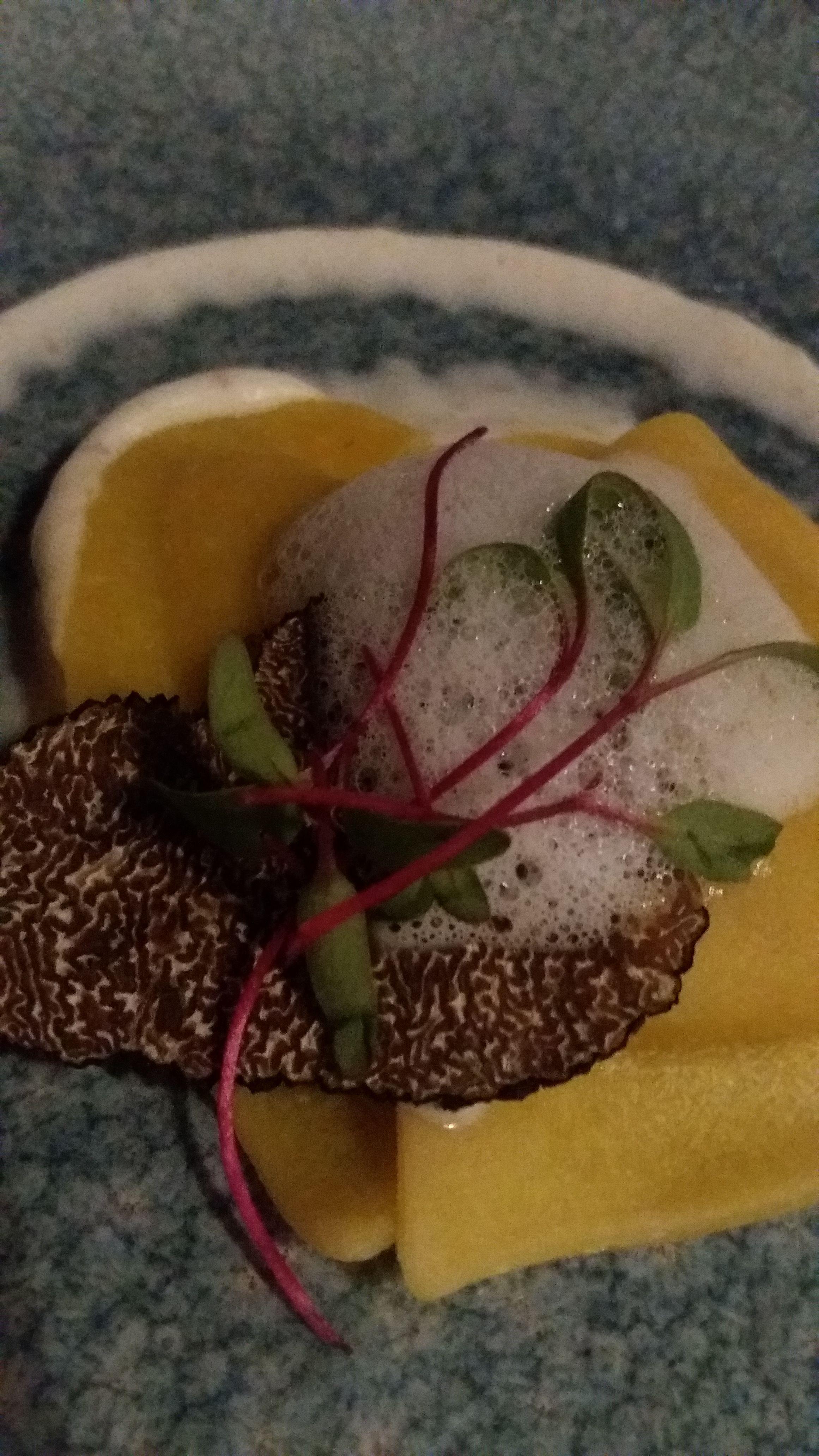 Ravioli u sosu od sumskih pecuraka