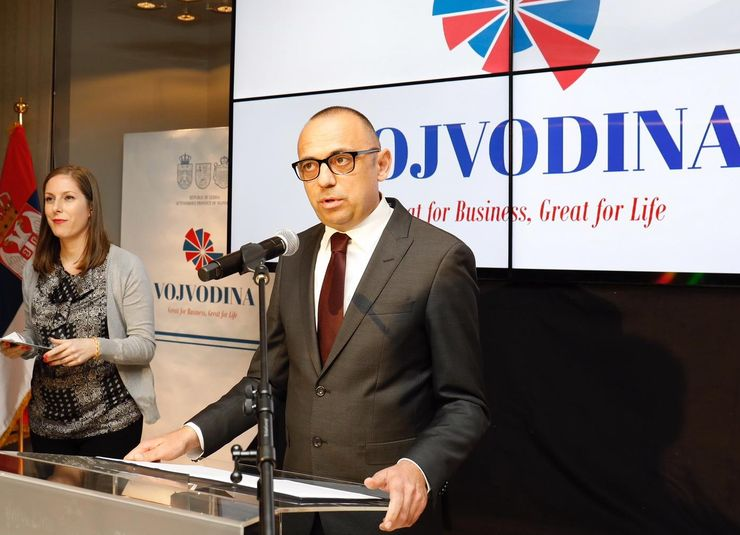 Potpredsednik Pokrajinske vlade Đorđe Milićević govori na prijemu Foto:  Pokrajinska vlada