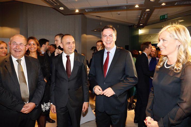 Prijemu prisustvovao izvestilac Evropskog parlamenta Dejvid Mekalister Foto:  Pokrajinska vlada