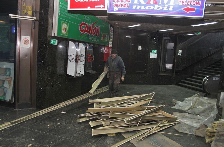 Radovi na redovnom održavanju i renoviranju podzemnog prolaza  Foto: R. Hadžić