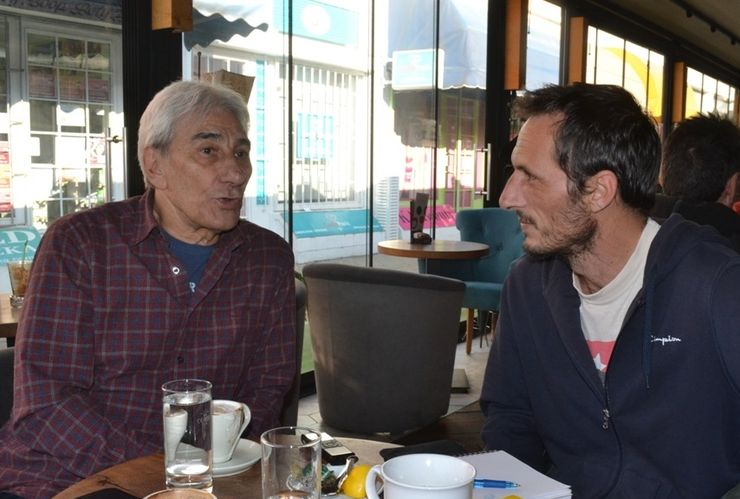 Jova Radovanović i naš novinar Niko Perković Foto:Dnevnik.rs/ S. Šušnjević