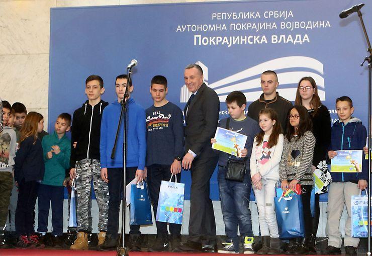 Награђени ђаци Фото:Дневник.рс/Б. Лучић
