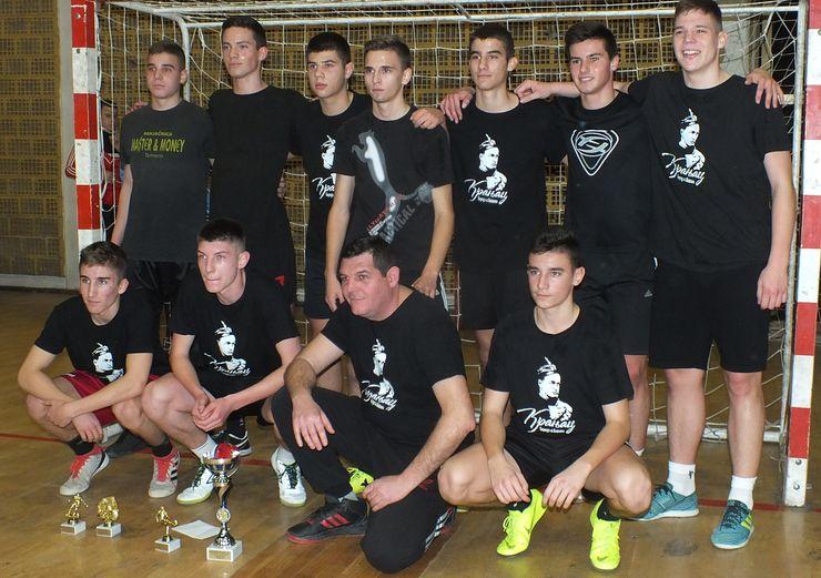 Ekipa Kafe Kranjac iz Rumenke pobednik je našeg turnira u konkurenciji kadeta Foto: F. Bakić