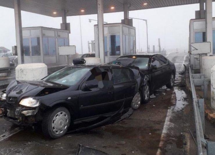 Saobraćajna nezgoda na naplatnoj rampi Kod Doljevca Foto: Informer
