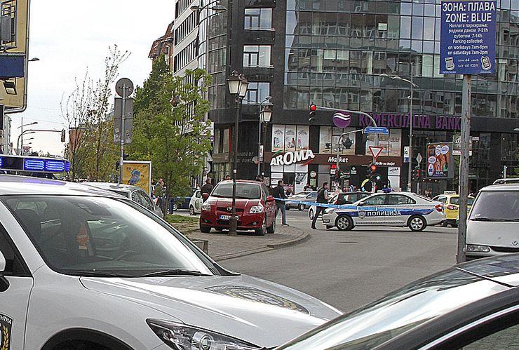 Policija blokirala ulicu Pap Pavla zbog dojave o bombi Foto: Dnevnik.rs/F. Bakić