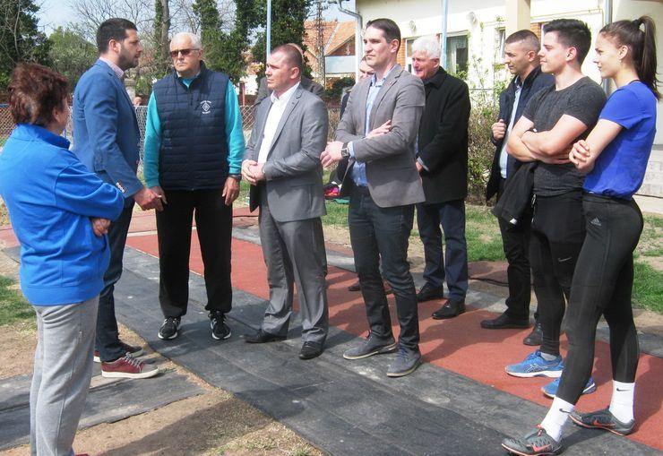 """Poseta Atletskom klubu """"Partizan"""" Foto: M. Mitrović"""