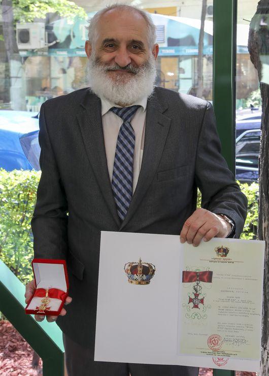 Vlastimir Vujić sa ordenom Foto: R. Hadžić