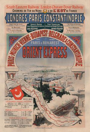 """Slavna era železnica: Plakat za """"Orijent Ekspres"""" Pariz – Konstantinopolj Foto: privatna arhiva"""