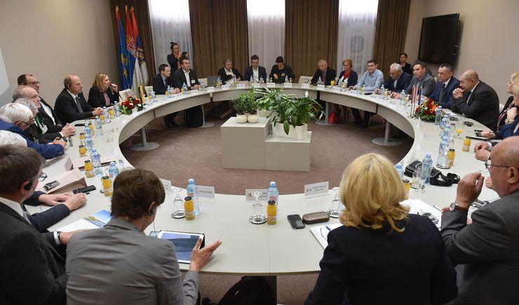 Delegacija nemačke pokrajine Baden-Virtemberg u poseti Skupštini APV Foto: Skupština Vojvodine