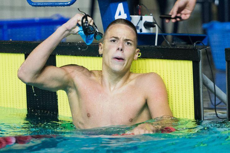 Vanja Reljin posle rekorda u Kruševcu Foto: Plivački savez Srbije