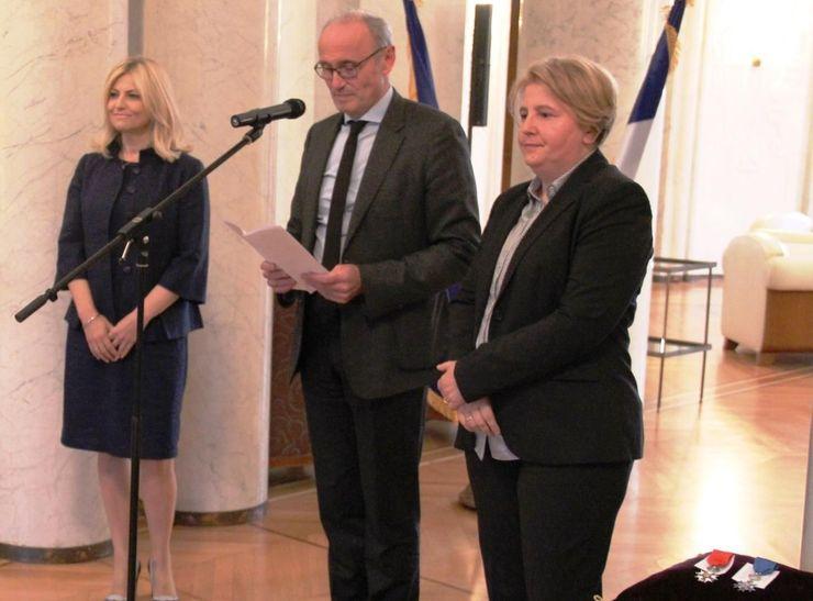 Gordana Janićijević, Žan Luj Falkoni  i Zagorka Dolovac  Foto: FoNet