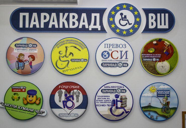 """Osam krugova koji simbolišu akcije """"Parakvada VŠ"""" Foto Udruženje """"Parakvad VŠ"""""""