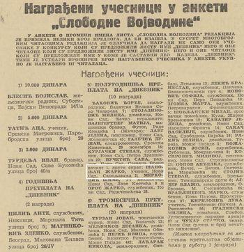 """Anketa """"Slobodne Vojvodine"""" Foto: Dnevnik.rs"""