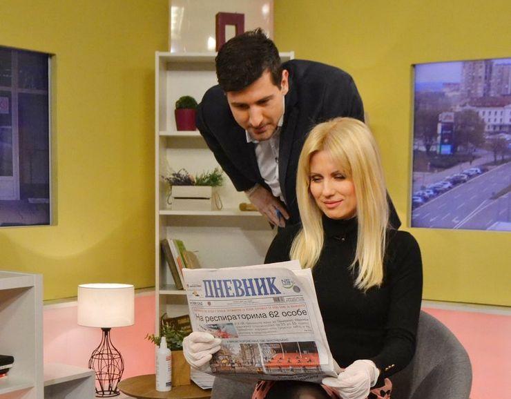 "Senka Stanković Njaradi i Milenko Krišan, voditelji emisije ""Dobro jutro, Vojvodino"" foto: Slobodan Šušnjević"