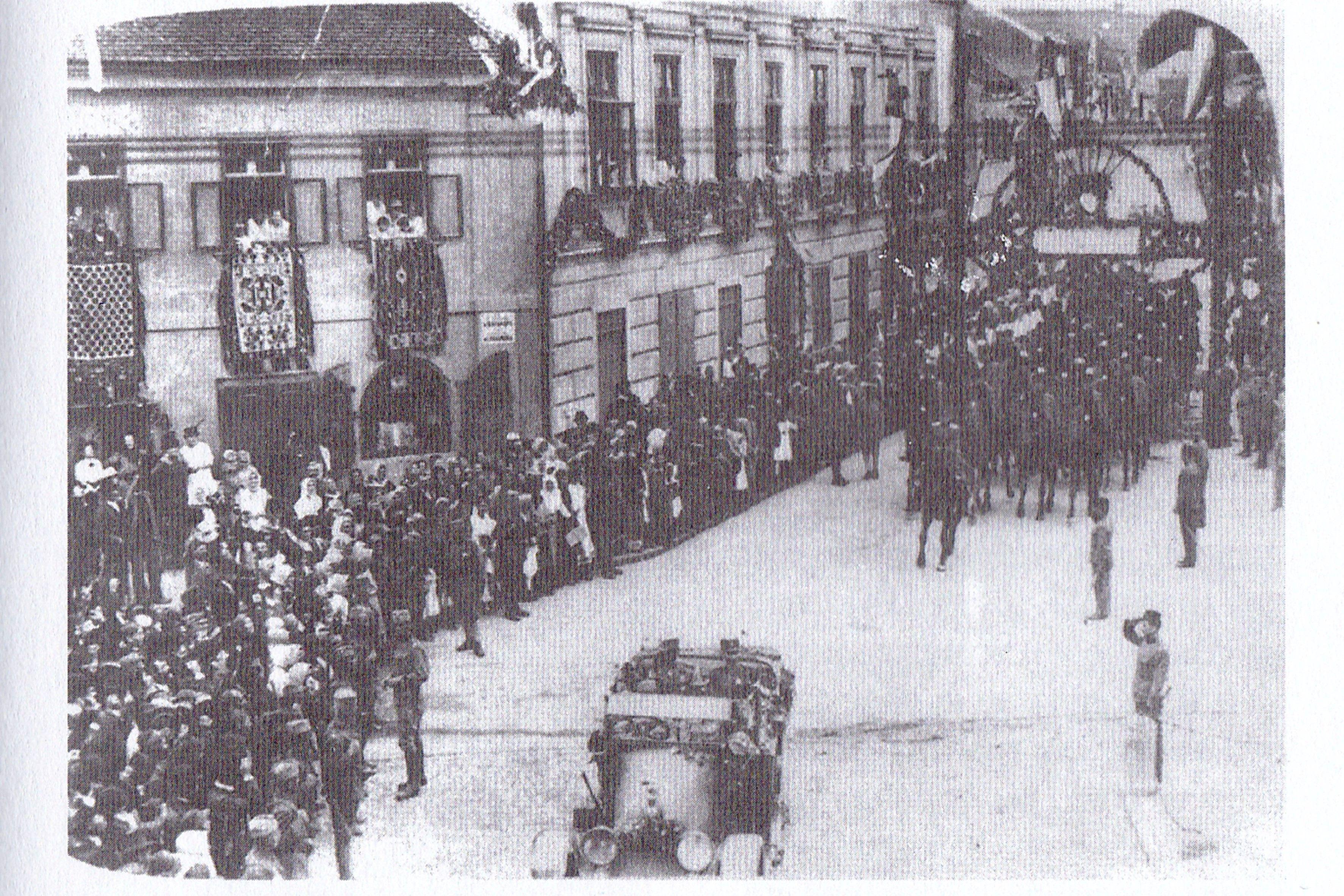 6 Aleksandar Karadjordjevic ulazi u Karlovce 1919