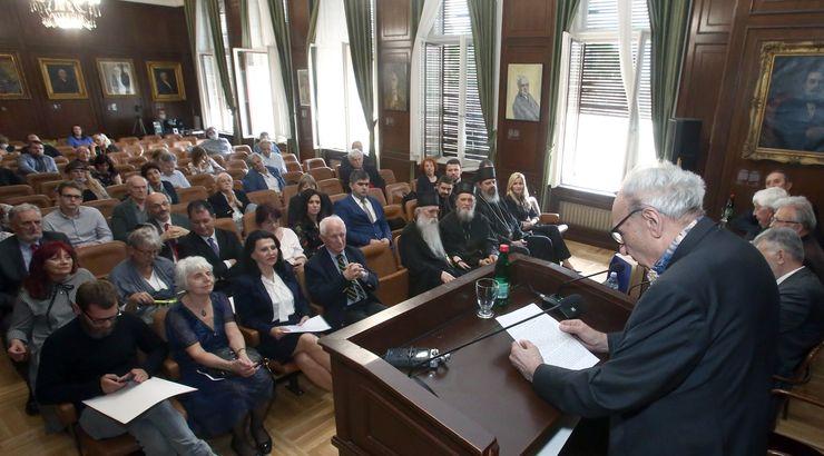 O delu jednog od laureata, akademika Matije Bećkovića, govrio je dr Miodrag Maticki Foto: B. Lučić