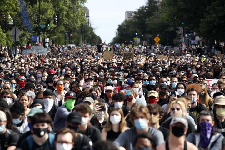Фонет/АП/Са протеста у Лос Анђелесу