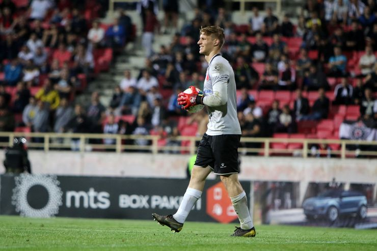 Emil Rockov, golman FK Vojvodina  Foto: J. Grlić