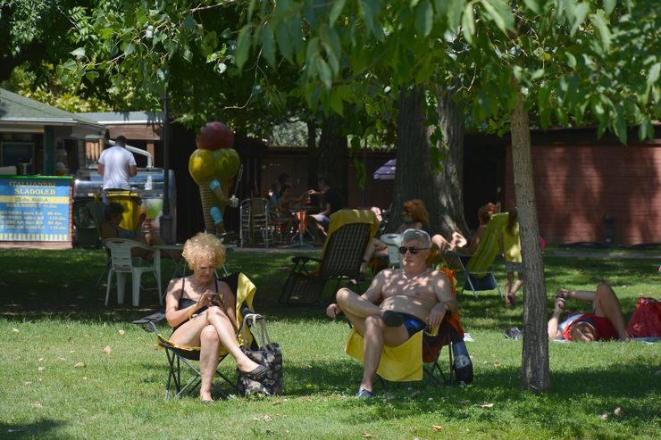 """Štrandaroši"" pod krošnjama drveća Foto: V. Fifa"