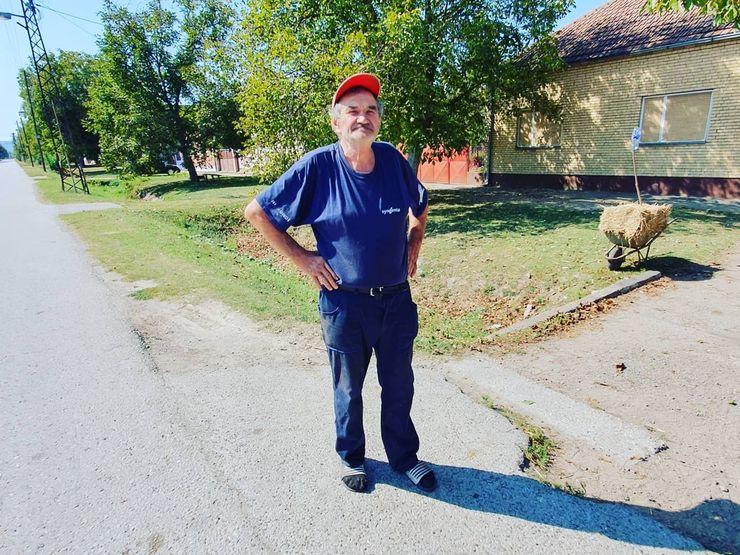 Svetomir Burka, meštanin Loka priča nam istoriju sela Foto: R. Čoban