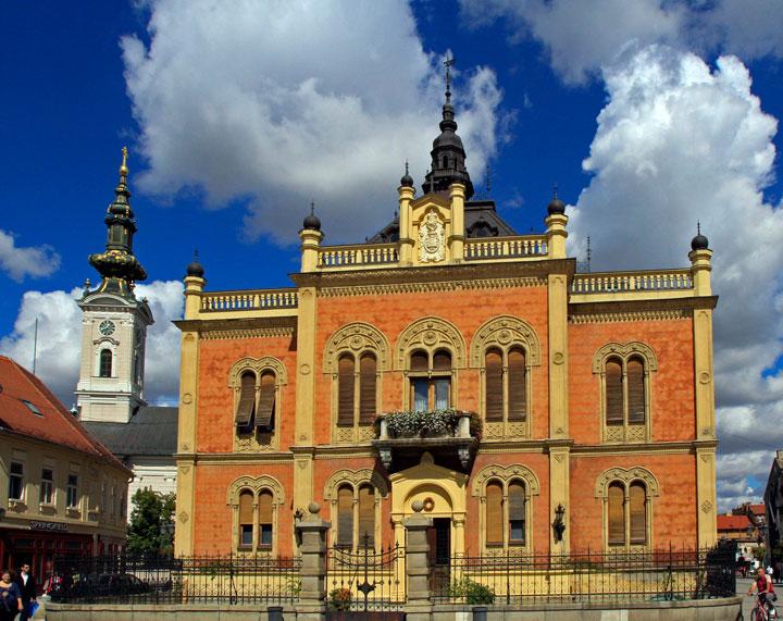 Р. Хаџић/Епископски двор – седиште Бачке епархије, необична палата еклектичног архитектонског стила