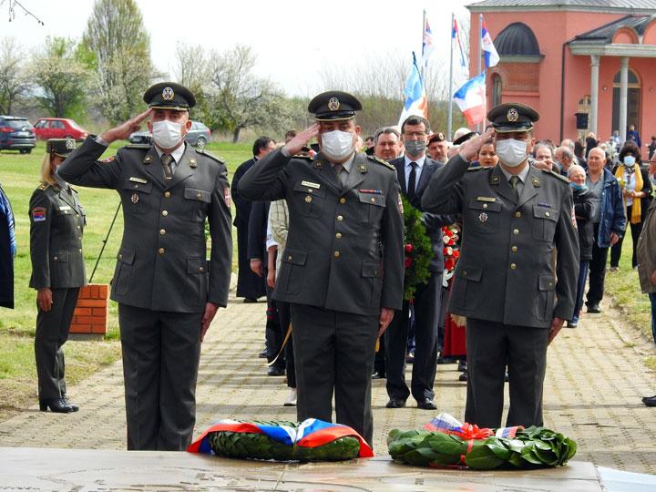 Општина Шид/Војнички поздрав палим борцима
