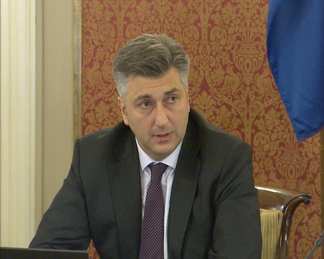 Andrej Plenković Foto: Tanjug/video