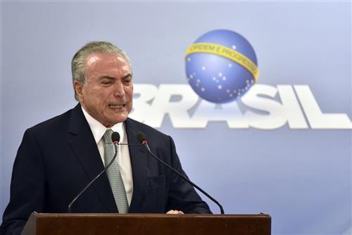 Mišel Temer, brazilski predsednik Foto: AP Photo/Ricardo Botelho