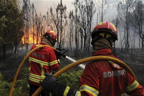 Portugalski vatrogasci Foto: AP Photo/Paulo Duarte