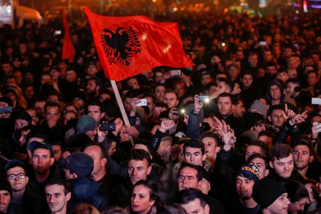albanski protesti