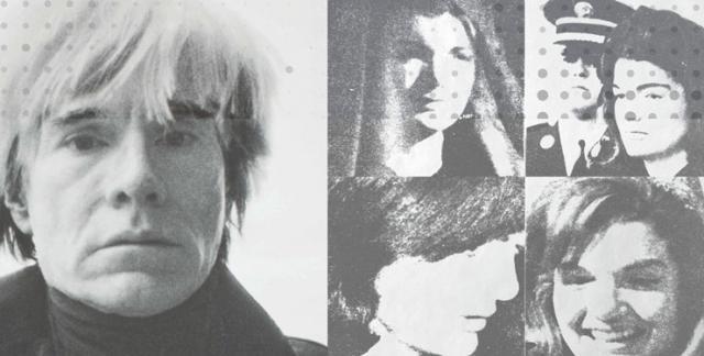 """Endi Vorhol i njegova serigrafija """"4hJackie"""" Foto: fragment plakata izložbe GMS"""