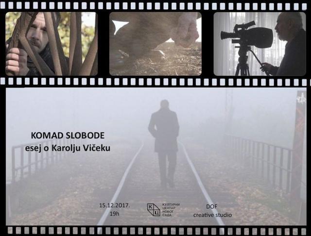 "Naslovnica filma-eseja ""Komad slobode""  Foto: Dnevnik.rs"