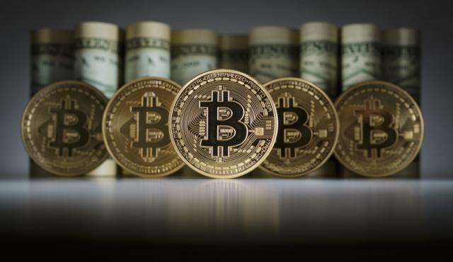 bitkoin, ilustracija