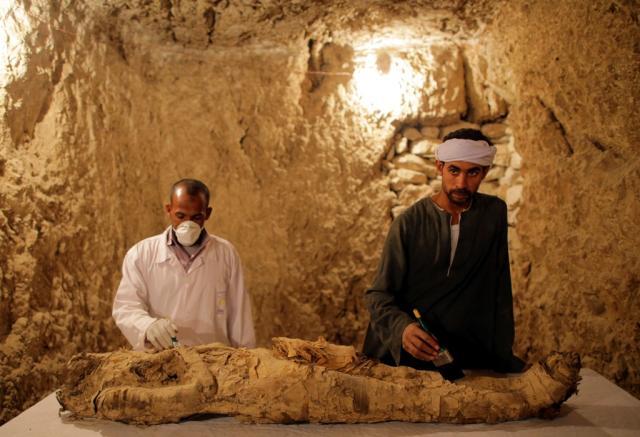 mumija egipat, EPA/KHALED ELFIQI
