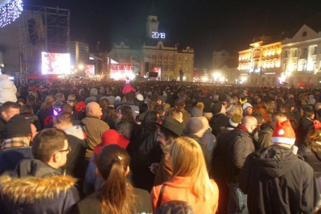 Doček 2018. na Trgu slobode u NS Foto: Dnevnik.rs