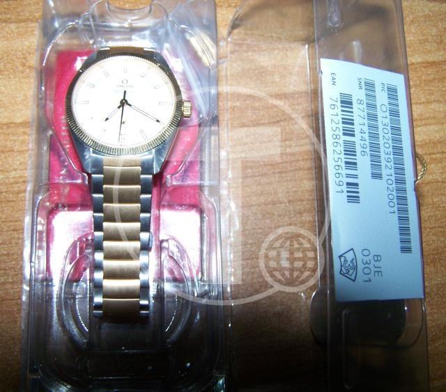 Zlato i luksuzan sat,zaplena Foto: Uprava carina