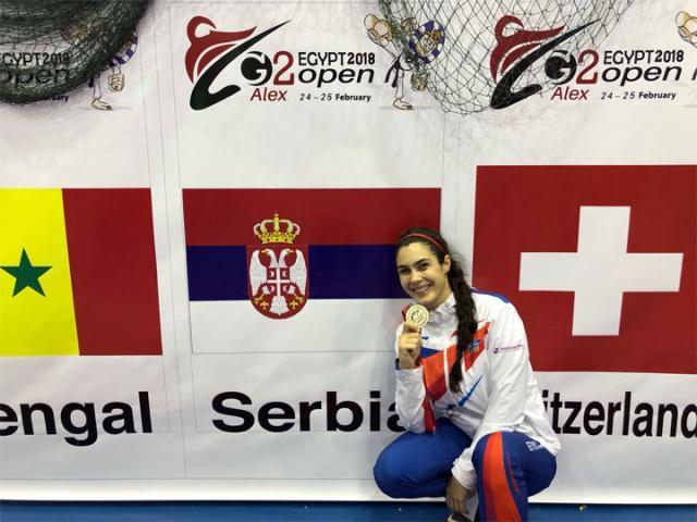 Milica Mandic u Egiptu sa medaljom/TK Galeb