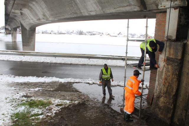 Pripremni radovi na rekonstrukciji Sentandrejskog mosta Foto:Dnevnik.rs/  S. Šušnjević