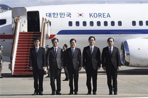 Delegacija Južne Koreje u Pjongjangu Foto: Jung Yeon-je/Pool Photo via AP
