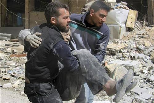 Damask, teroristički naoad Foto: Syrian Civil Defense White Helmets via AP