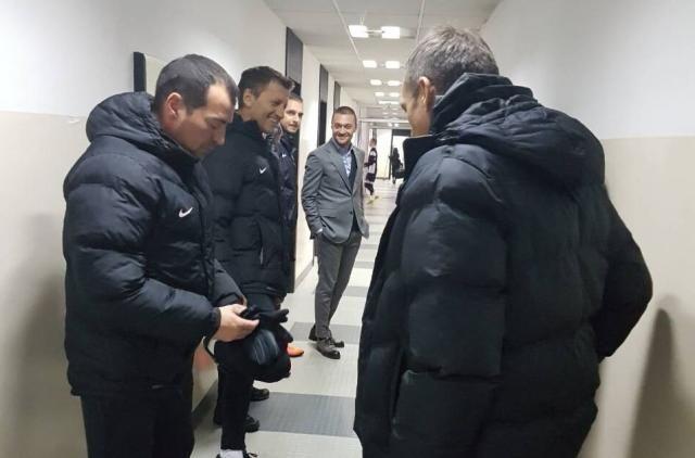 Miroslav Đukić (drugi sleva)  Foto: FK Partizan