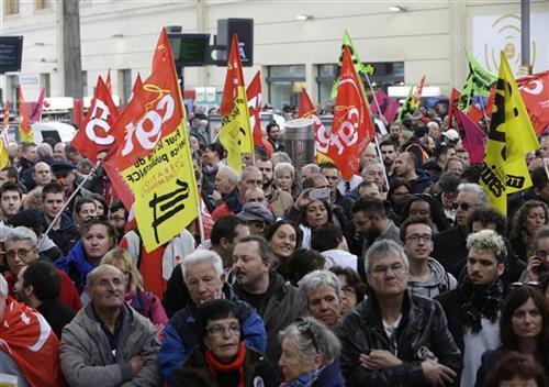 Štrajk železničara u Francuskoj Foto: Tanjug/video