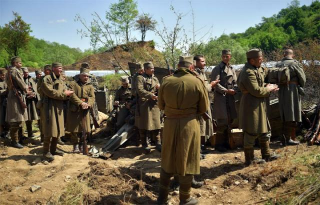 General Dikovic na snimanju filma o kralju Petru/MO Republike Srbije