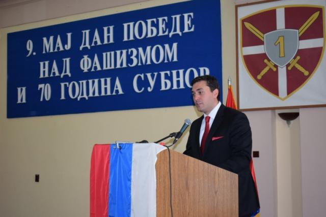 Ivan Đoković  govori na Svečanoj akademiji povodom obeležavanja 73. godišnjice Dana pobede nad fašizmom Foto: vojvodina.gov.rs